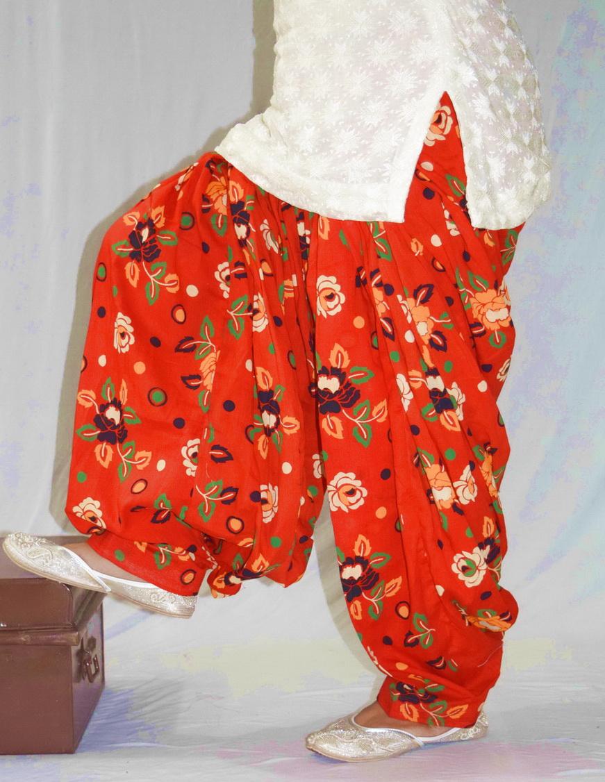 Orange Printed Patiala Salwar PPS189 1