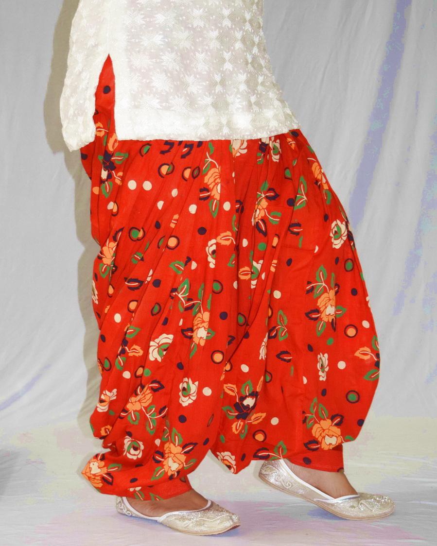 Orange Printed Patiala Salwar PPS189 2