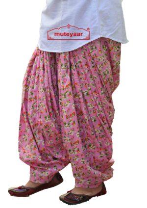 Pink Printed Patiala Salwar PPS254