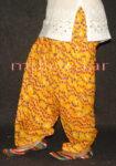 Yellow Bandhni Print Cotton Patiala Salwar PPS88