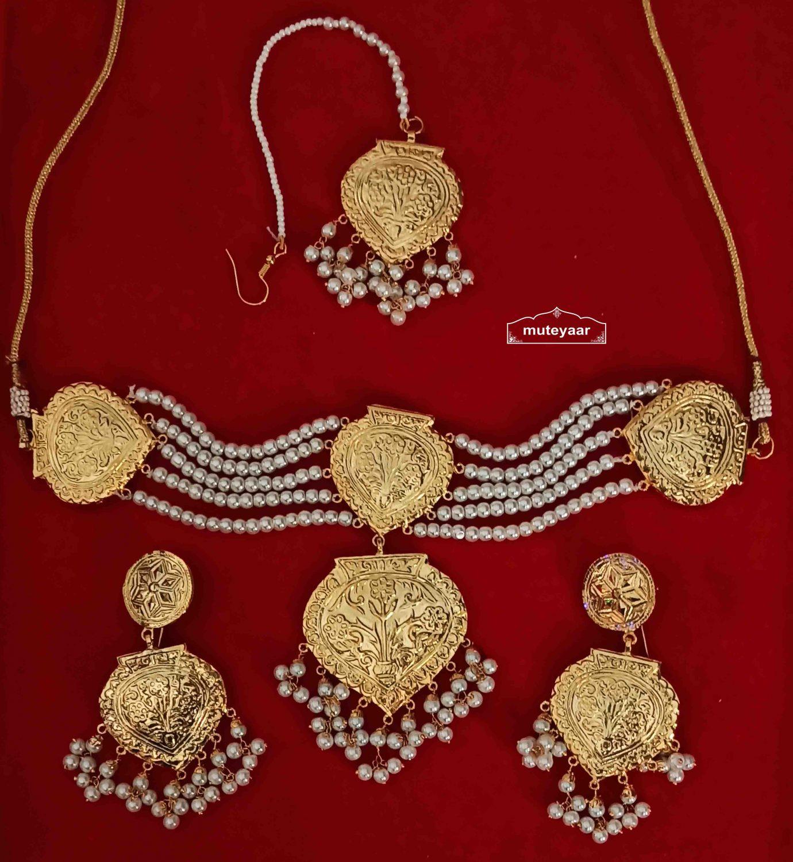 Choker Set Gold Plated Jewellery J0527 1