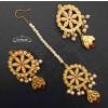Buy Jadau Dakh Earrings Tikka Set J0528 online at best price.