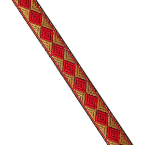 Red Gold Lace 20 mm wide Kinari Roll of 9 Mtr. LC214