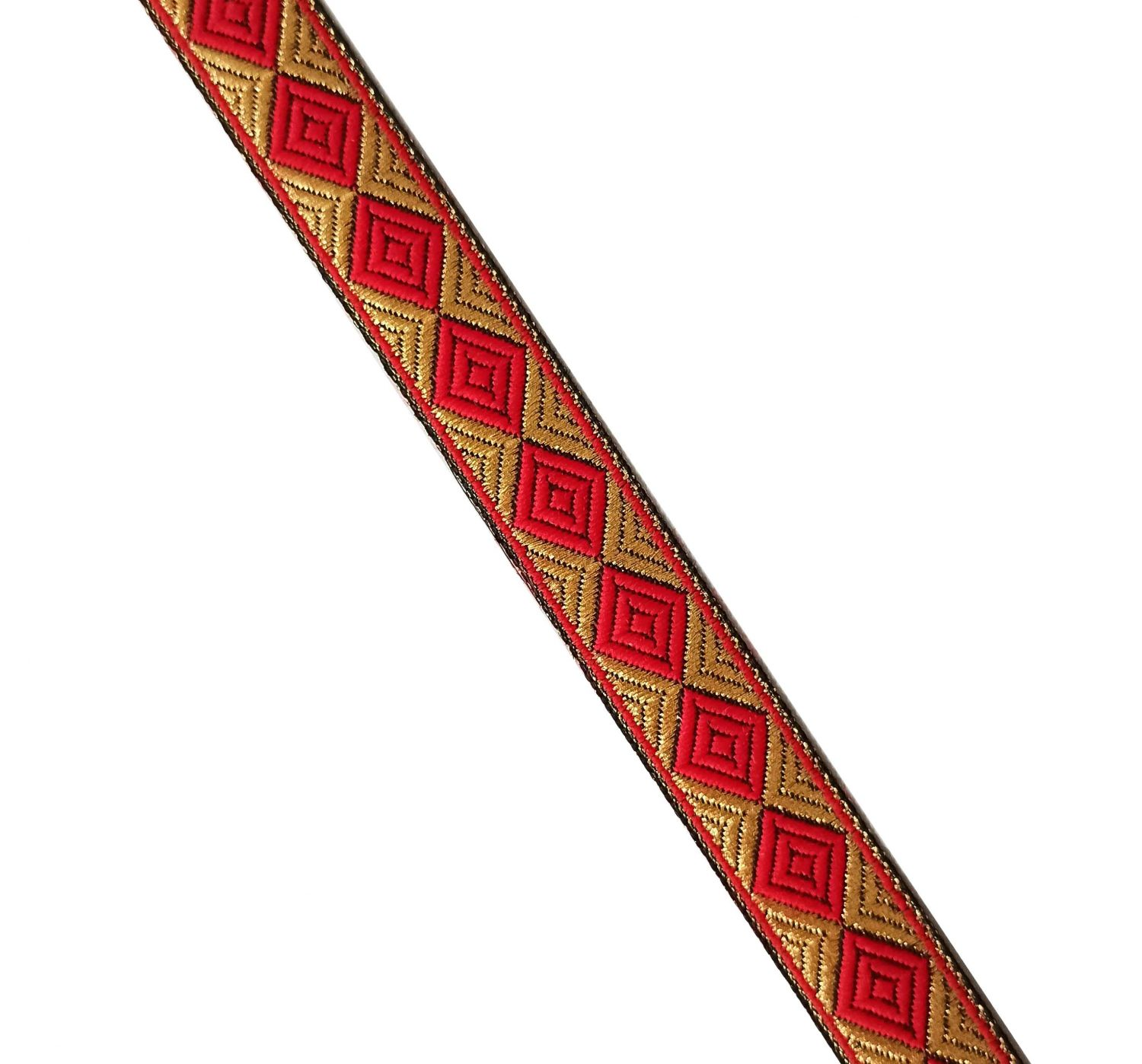 Red Gold Lace 20 mm wide Kinari Roll of 9 Mtr. LC214 1