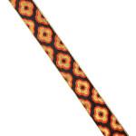 Black Orange Gold Lace 1 inch wide Kinari Roll of 9 Mtr. LC215
