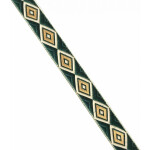 Dark Green Gold Lace 20 mm wide Kinari Roll of 9 Mtr. LC221