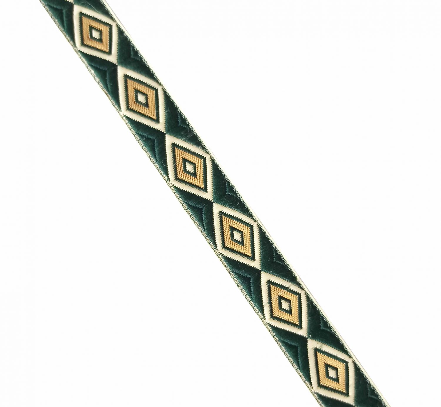 Dark Green Gold Lace 20 mm wide Kinari Roll of 9 Mtr. LC221 1