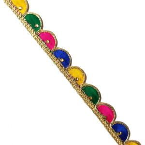 Multicolour Lace Kinari for Dupatta – Roll of 9 Mtrs. LC222