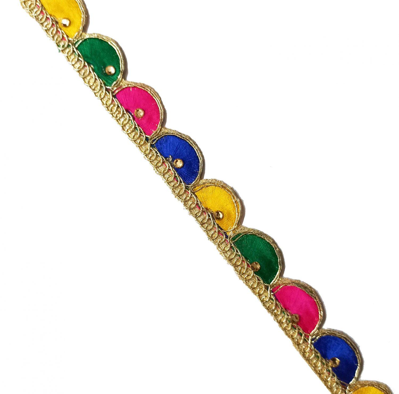 Multicolour Lace Kinari for Dupatta - Roll of 9 Mtrs. LC222 1