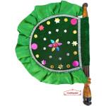 Green Designer Pakhi Hand Fan T0266