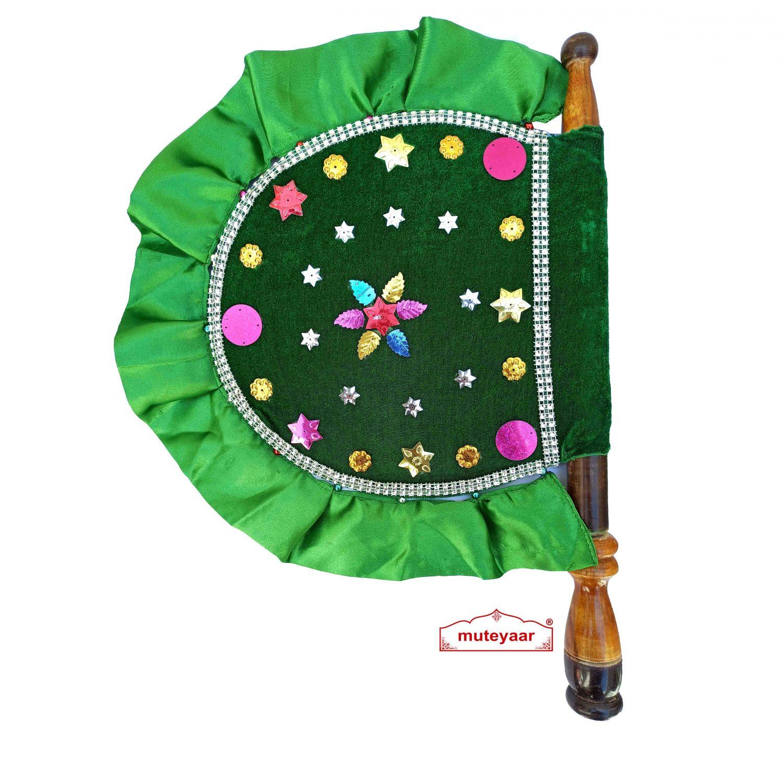 Green Designer Pakhi Hand Fan T0266 1