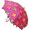 Magenta Phulkari Umbrella for Punjabi Wedding UMB01