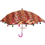 Maroon Phulkari Umbrella Decorative Chhatri UMB02