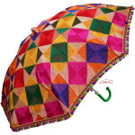 Multicolour Parantha Phulkari Umbrella Chhatri UMB06