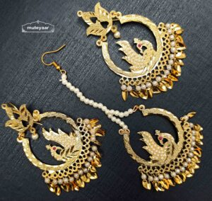 Peacock Jadau Tikka Earring Set J0529