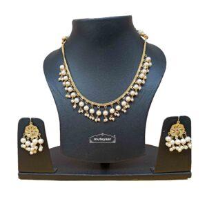 Punjabi Chain Set with White Beads J0530