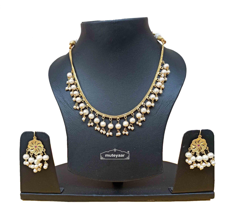 Punjabi Chain Set with White Beads J0530 1