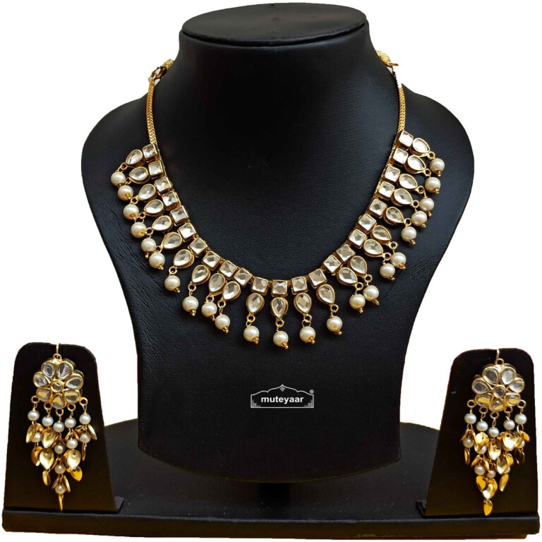 Kundan Set Punjabi Necklace Earrings Jewellery J0531
