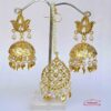Golden Punjabi Jhumki Tikka Set J0532