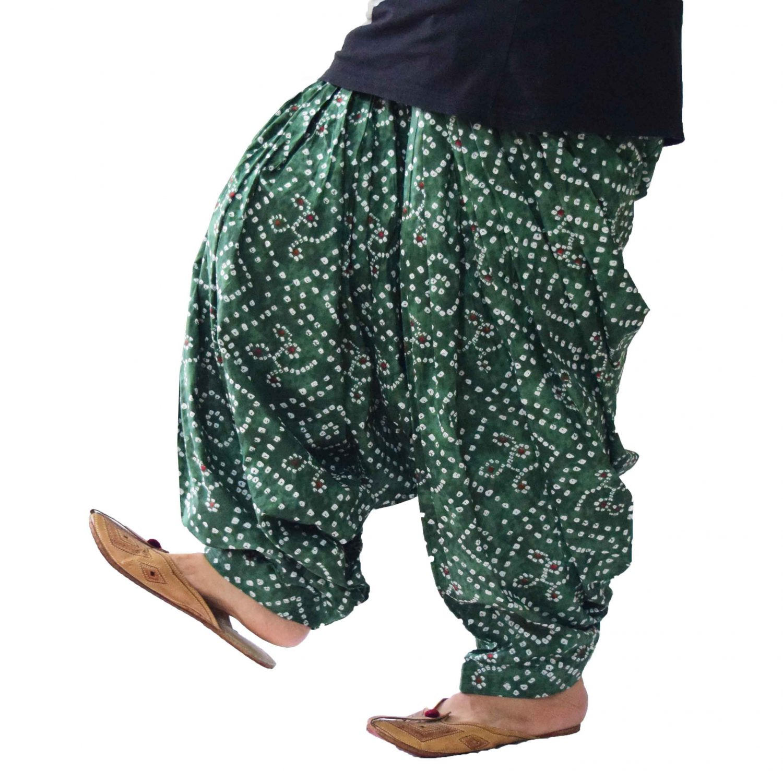 Green Gujri Print Cotton Patiala Salwar PPS311 1