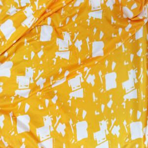 Yellow Lycra Cotton Mix Soft Stretchable Hosiery Fabric HF023