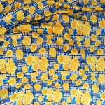 Yellow Floral Design Hosiery Fabric 65 inch wide cloth HF025