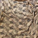 Fawn Black Printed Hosiery Fabric Lycra Cotton Mix Cloth HF028