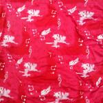 Soft Skin Friendly Red Music Design Hosiery Fabric HF029