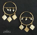 Golden Pipal Patti Bali Earrings J0534