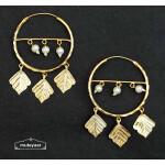 Golden Pipal Patti Bali Earrings J0534