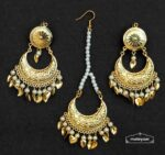 Chandrama Design Tikka Earrings Set J0537