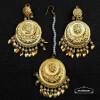 round earrings tikka set J0540