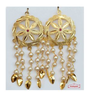 Punjabi Jhallar Earrings with Golden Polish J0542
