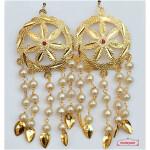 Punjabi Jhallar Earrings with Golden Polish J0542