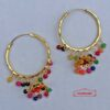Multicolour Earrings Punjabi Bali J0543