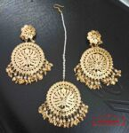 Gold Plated Big Tikka Earrings Set J0552