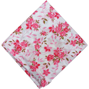 Pink Flowers Soft Cotton Printed Fabric Dress Material PC511