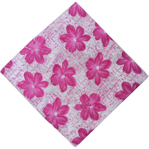 Pink Flowers Soft Cotton Printed Fabric Skin Friendly Dress Material PC512