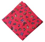 Carrot Red Cartoon Print Soft Pure Cotton Fabric PC513