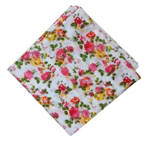 Multicolour Floral Print Pure Cotton Fabric PC518