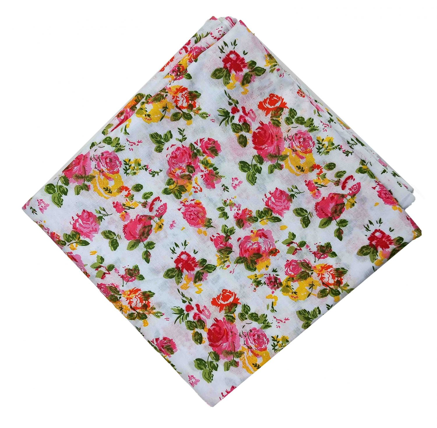 Multicolour Floral Print Pure Cotton Fabric PC518 1