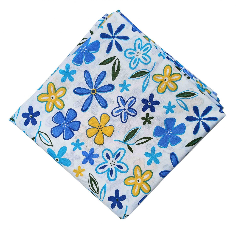 Multicolour Flowers Printed Fabric Pure Cotton Cloth PC519 1