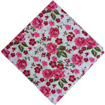 Pink Flowers Printed Dress Material Pure Cotton Fabric PC524