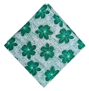 Green Flowers Pure Cotton Fabric Printed Cloth PC525