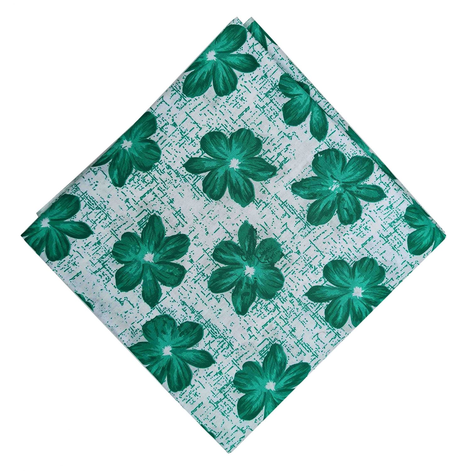 Green Flowers Pure Cotton Fabric Printed Cloth PC525 1
