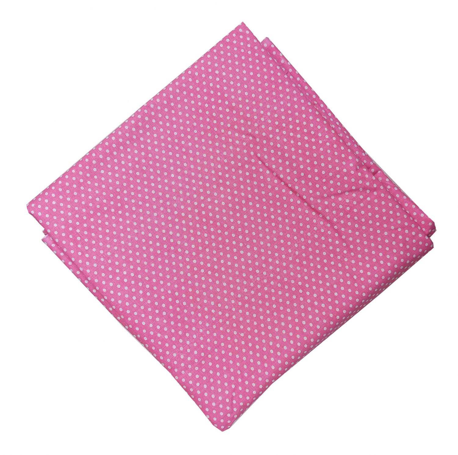 Baby Pink Polka Print Soft Skin Friendly Pure Cotton Fabric PC527 1