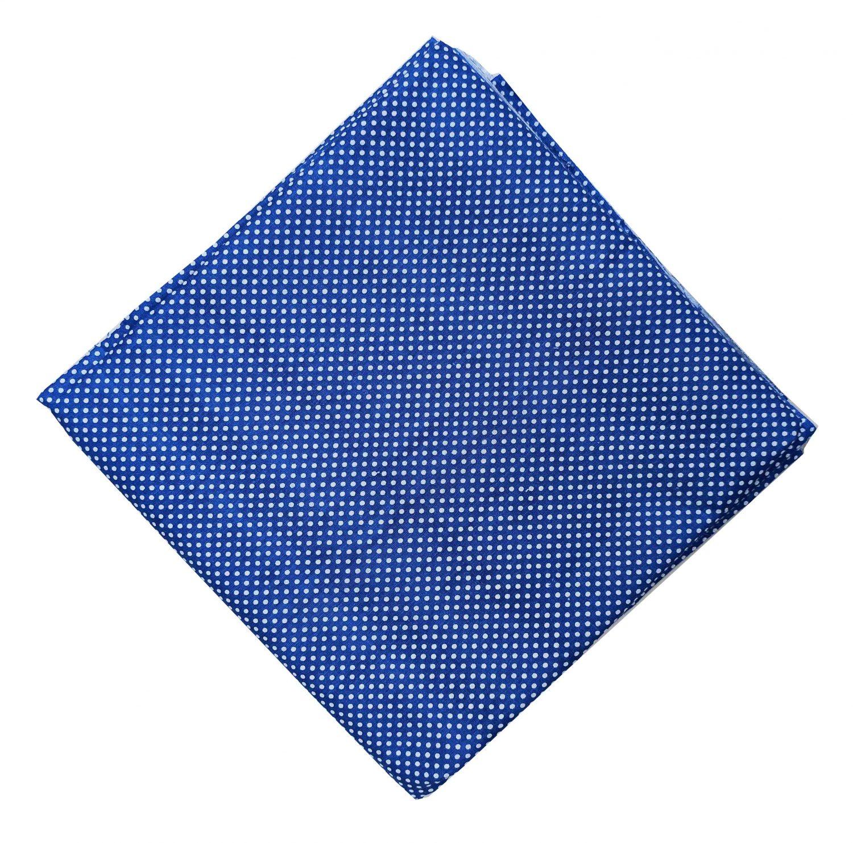 Royal Blue Polka Print Cotton Fabric PC528 1
