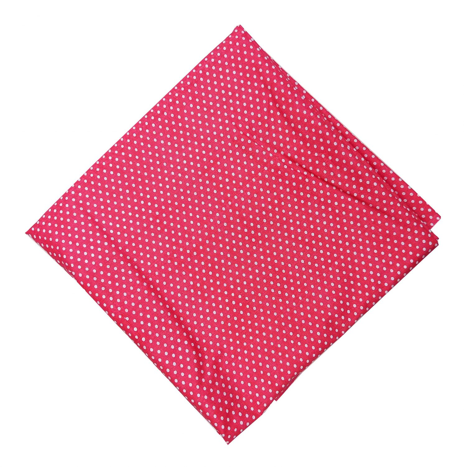 Magenta Polka Dots Printed Cotton Fabric PC532 1