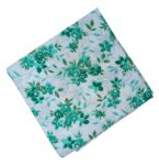 Green Floral Design Pure Cotton Fabric PC533