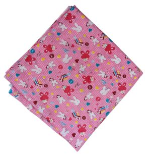 Pink Baby Print Pure Cotton Fabric Soft Skin Friendly Material PC536